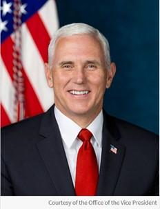 Official Photo of Vice President Michael R. Pence, courtesy of the Office of the Vice President