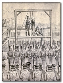 Cadets at execution of John Brown