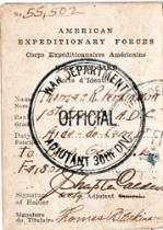 World War I identification card