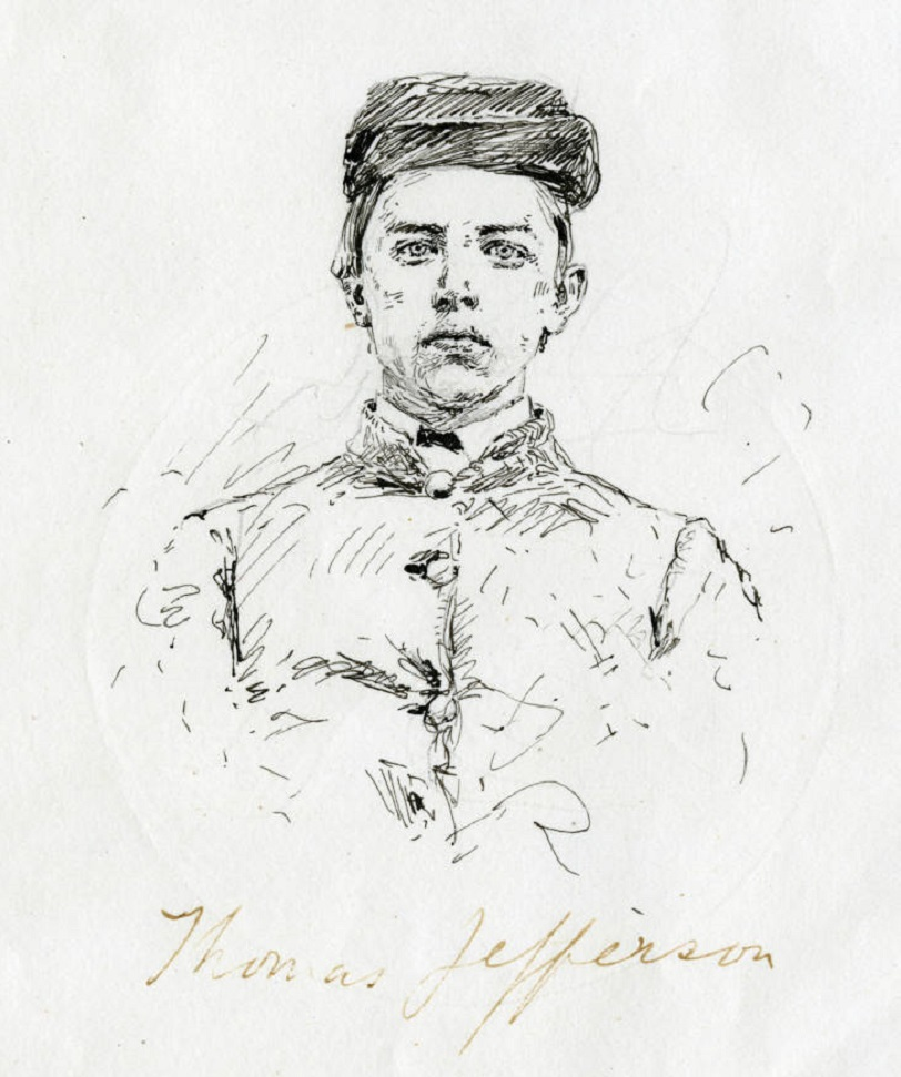 Drawing of Cadet Jefferson