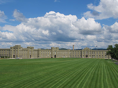 A view of the VMI Barracks.