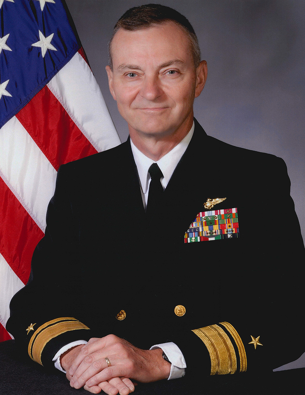 Rear Adm. Charles Smith in his Navy uniform