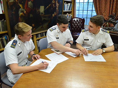 Cadets working on translations
