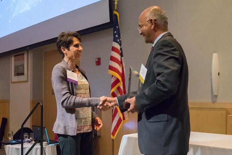 "Col. Stacey Vargas, professor of physics/astronomy, received an award for ""Innovation in Higher Education"" from the Shenandoah Valley Technology Council in May. – Photo courtesy of James Madison University."