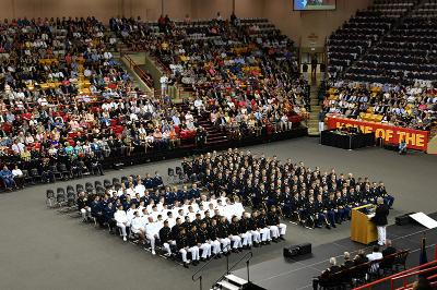 A wide angle of the joint commissioning ceremony.