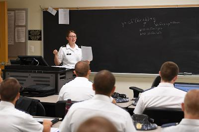 VMI Professor Amy Givler teaches a mathematics class