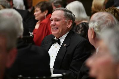 Gen. John Jumper attends the Institute Society Dinner.