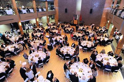 Members of the Institute Society dine in Marshall Hall Nov. 9.