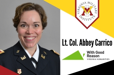 Promo photo of Lt. Col. Abbey Carrico for episode of With Good Reason