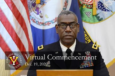 Maj. Gen. Wins, December 2020 Virtual Commencement